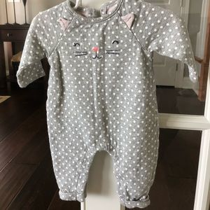 Baby Gap Girl Cat One Piece Outfit